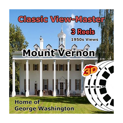Mount Vernon - Home of George Washington -  Vintage Classic View-Master® - 1950s views