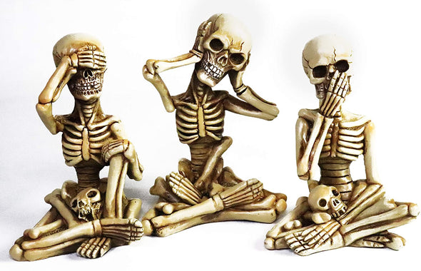 skeleton - see no evil hear no evil speak no evil