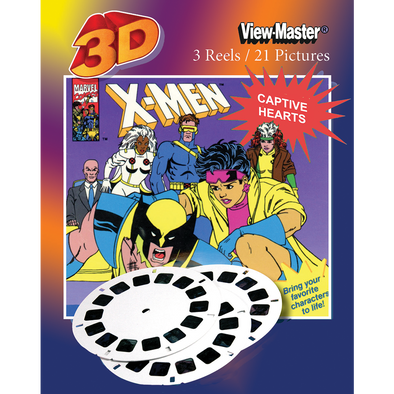 viewmaster X-men captive hearts 3 Reel set