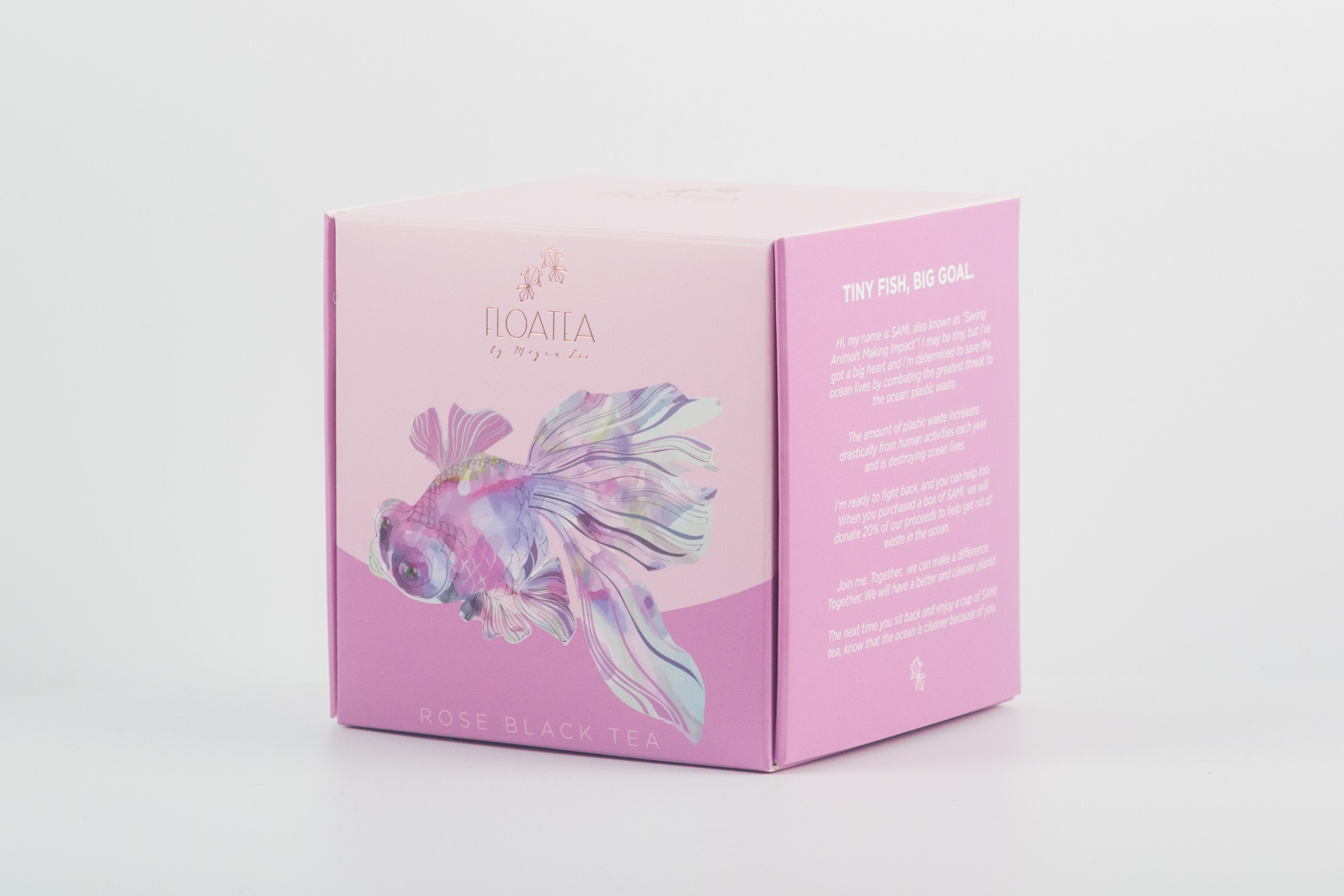 FloaTea SAMI Rose Black Tea Box 3/4 View