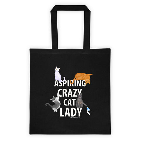 Aspiring Crazy Cat Lady Tote Bag