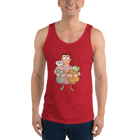 Mens Cat Gang Tank Top