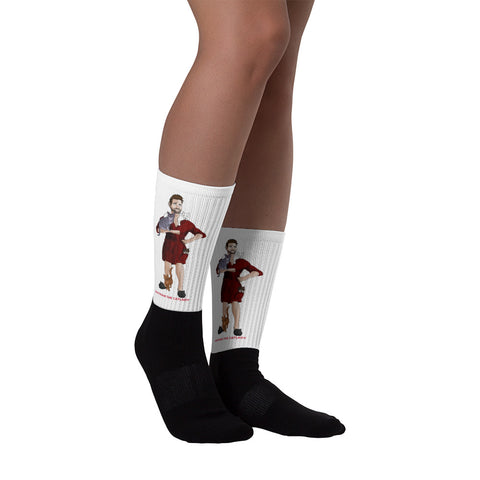 Nathan The Cat Lady Socks (Red Robe)