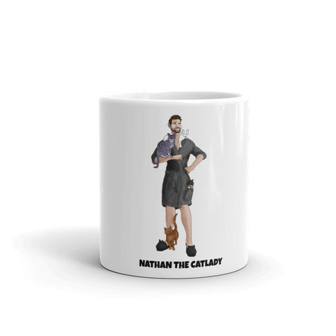 Nathan The CatLady Mug (Grey Robe)
