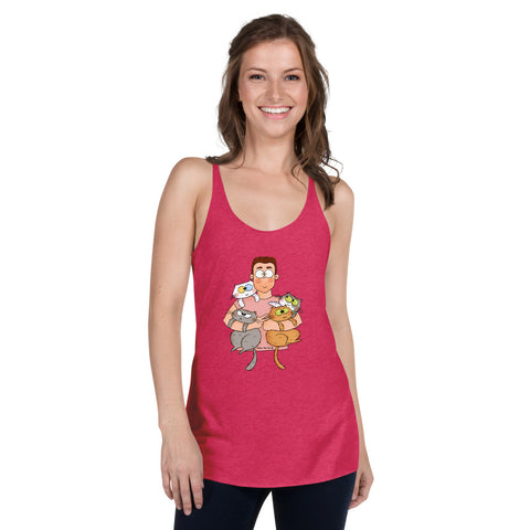 Women's Racerback Cat Gang Tank