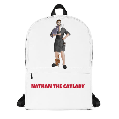 Nathan The Cat Lady Backpack (Grey Robe)