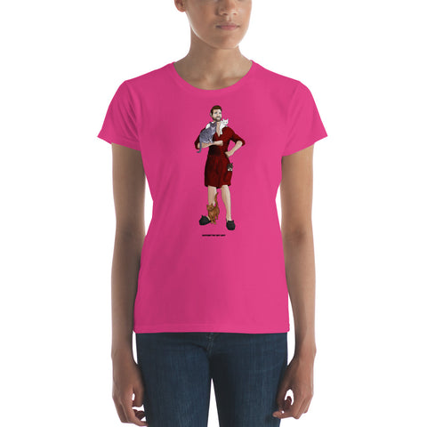Big Cat Lady T-Shirt (Red Robe)