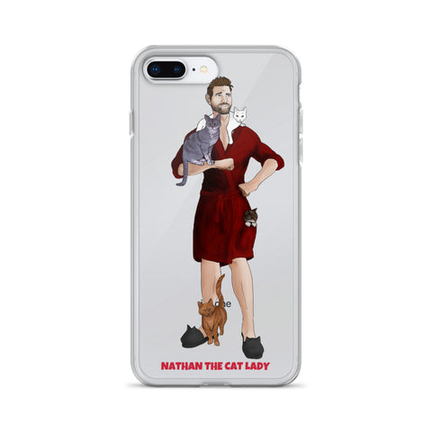 Nathan The Cat Lady iPhone Case (Red Robe)