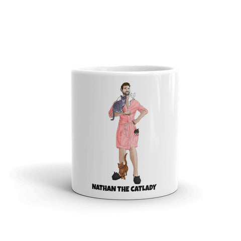 Nathan The CatLady Mug (Pink Robe)