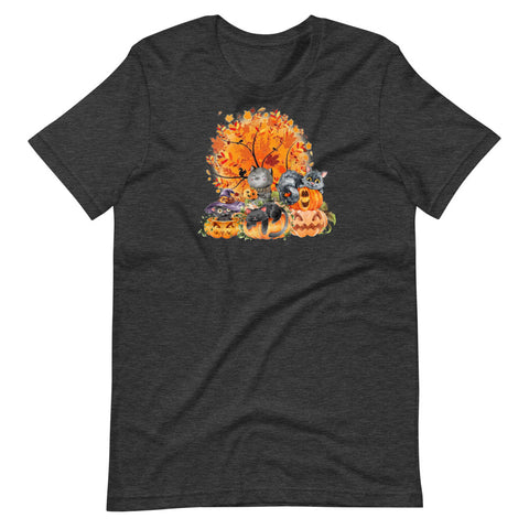 Pumpkin Cats Unisex T-Shirt