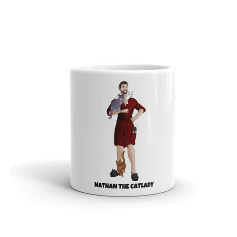 Nathan The CatLady Mug (Red Robe)