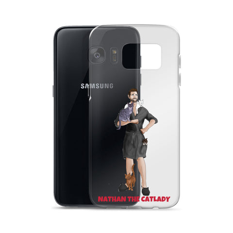 Nathan The Cat Lady Samsung Case (Grey Robe)
