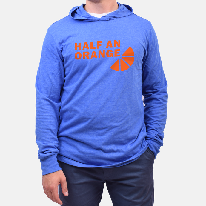 Orange Slice Hooded T-Shirt - Blue