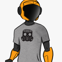 Gas Mask Shirt - Gray