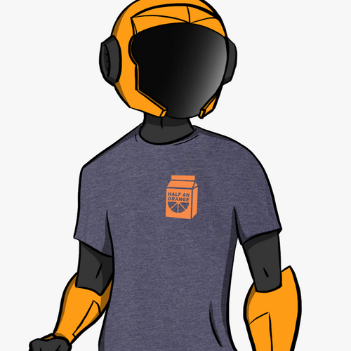 Orange Juice Shirt - Navy Blue