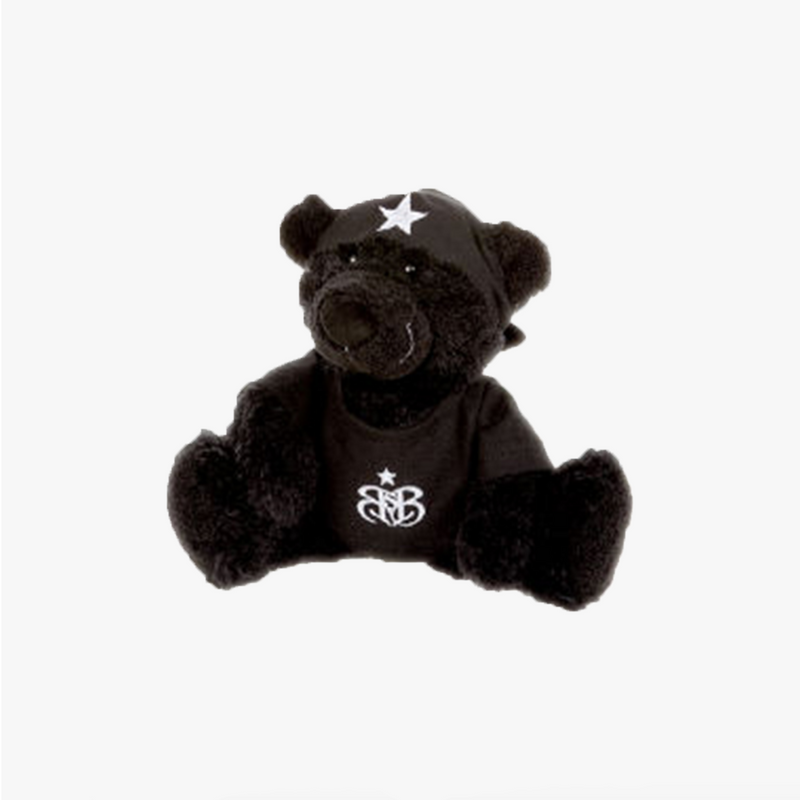 Rock Star Baby bamse Sort 20cm