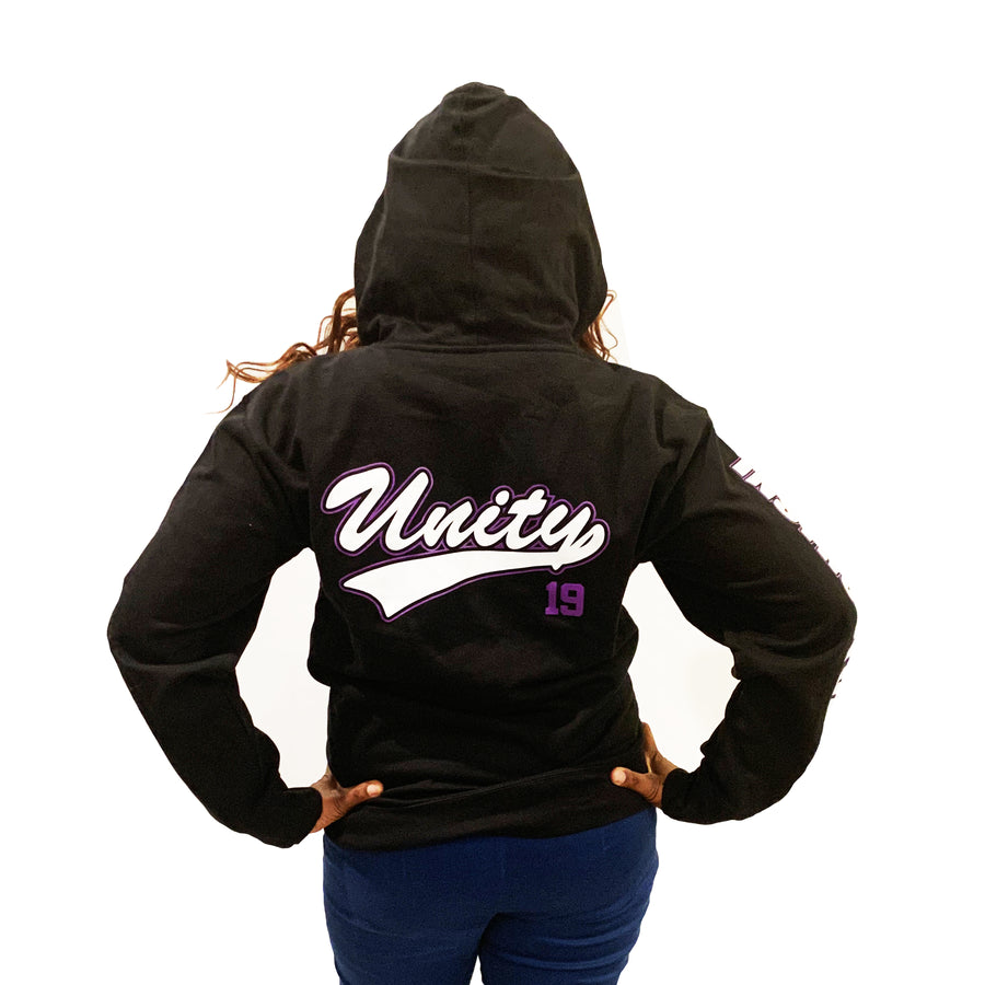 BLACK INSTRUCTOR ZIP UP HOOD W/ UNITY 19