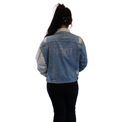 Ombre Denim Jacket W/ Bling Logo