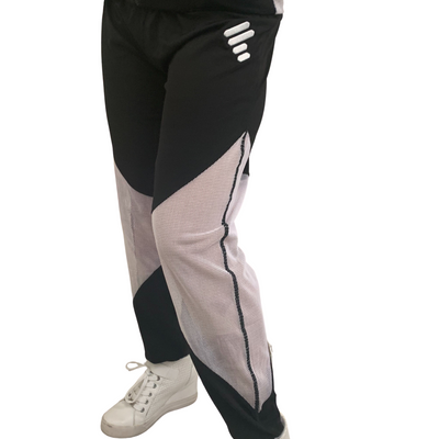White/Black Track Pants