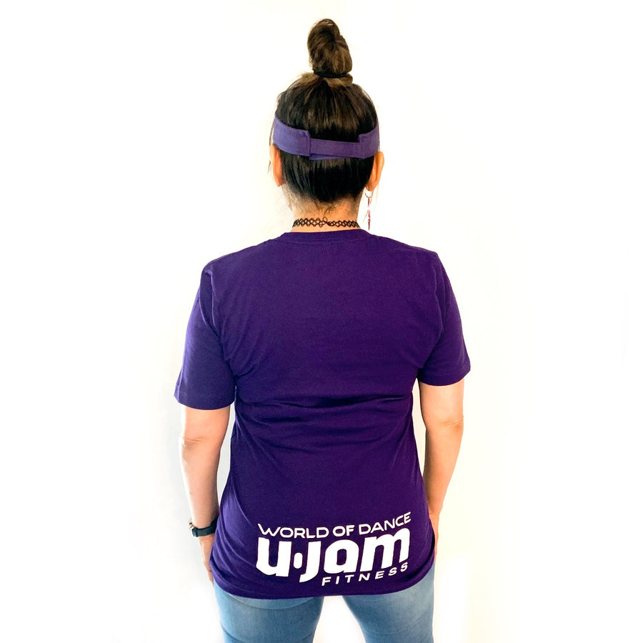 Purple Just Jam T-Shirt W/ Logo on the Lower Backside