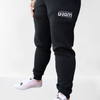 Black Women's Joggers With Silver Glitter Logo