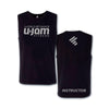 Black with Light Grey WOD U-Jam Instructor Premium Muscle Shirt