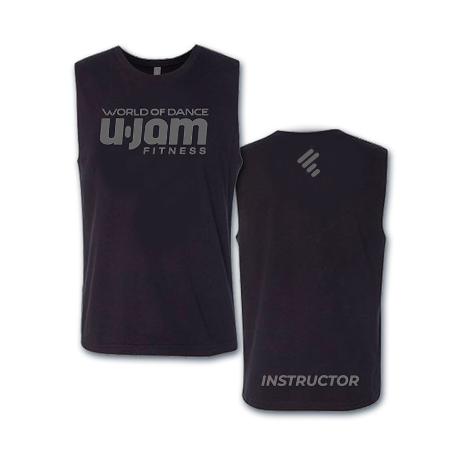 Black with Dark Grey WOD U-Jam Instructor Premium Muscle Shirt