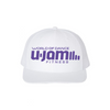 AUGUST PREORDER: White Trucker W/ Purple Logo