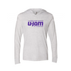 White Heathered Long Sleeve Hoody Tee