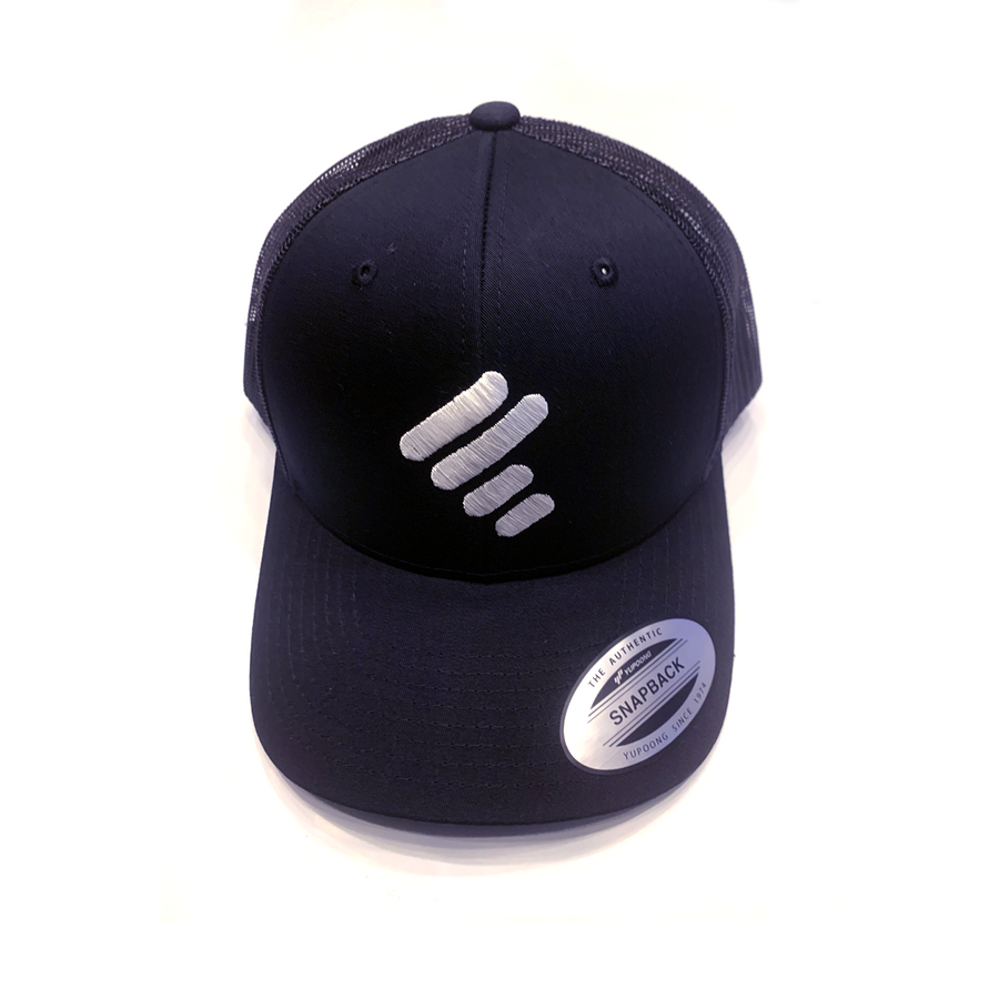 BLACK TRUCKER WITH WHITE UNITY MARK (MESH SIDES)