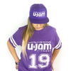 UNISEX PURPLE FOOTBALL JERSEY T-SHIRT