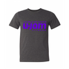 CHARCOAL GREY UNISEX T-SHIRT W/ PURPLE WORLD OF DANCE U-JAM LOGO