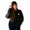 Black World of Dance U-Jam Letterman Established Jacket  W/ Grey Stripes