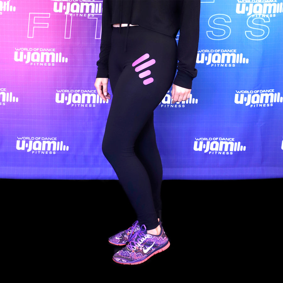 Black Leggings with Large Purple Unity Mark