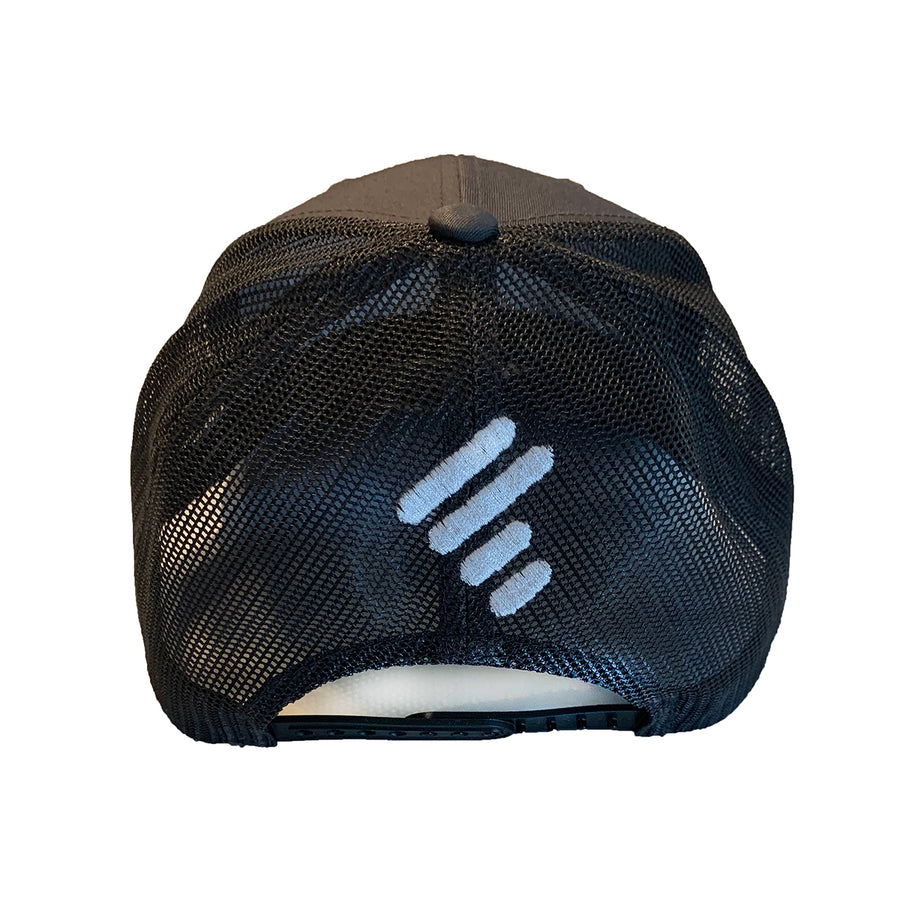 CHARCOAL TRUCKER W/ WHITE WORLD OF DANCE U-JAM ON FRONT & UNITY MARK ON BACK