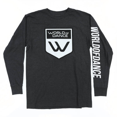 Badge Logo LS Tee (Charcoal)