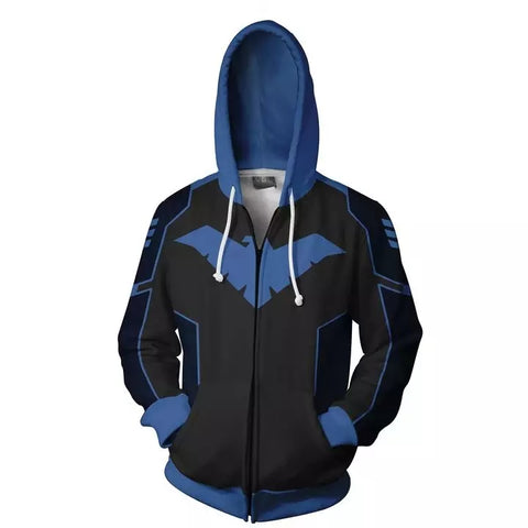 DC Comics Nightwing Dick Grayson Cosplay Zipper Hoodie