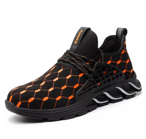Orange Honeycomb Safety Shoe