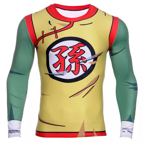 Kid Gohan Long Sleeve Compression Shirt