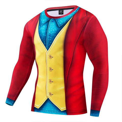Arthur Fleck The Joker Movie Long Sleeve Compression Shirt