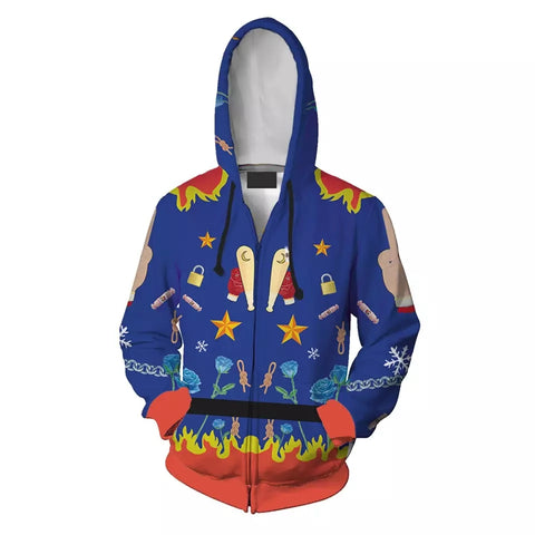 Harley Quinn Birds Of Prey Supervillain Cosplay Zipper Hoodie
