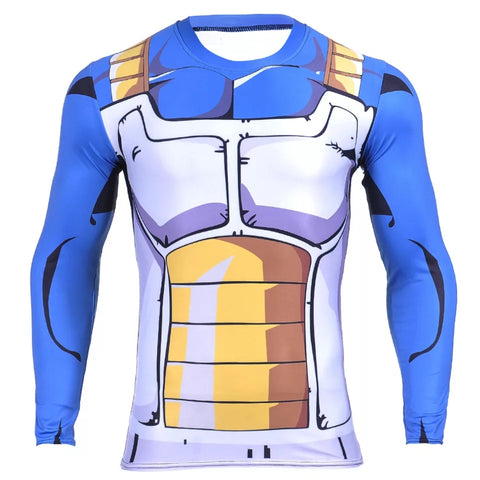 Vegeta Classic Battle Suit Long Sleeve Compression Shirt
