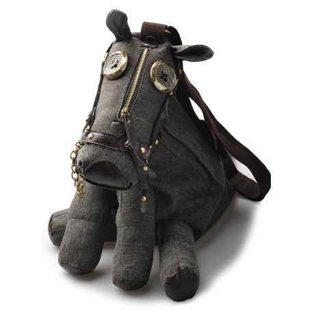 Gothic Steampunk Donkey Animal Canvas Handbag