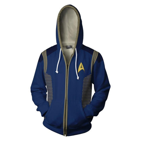 Star Trek Discovery Uniform Zipper Hoodie