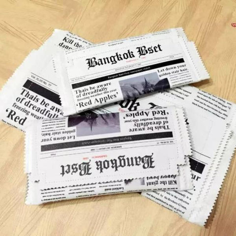 Funny Newspaper Clutch Handbag