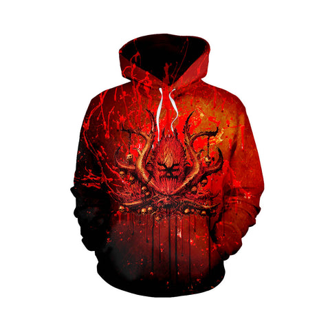 Blood For The Blood God! War Cry Pullover Hoodie