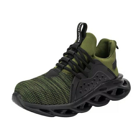 Green Airwave Safety Shoe