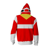Power Rangers In Space Red Ranger Cosplay Zipper Hoodie