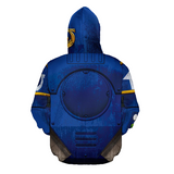 Deep Blue Star Trooper Pullover Hoodie