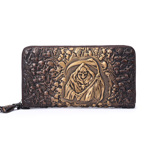 Gothic Death Shinagami Grim Reaper Long Wallet